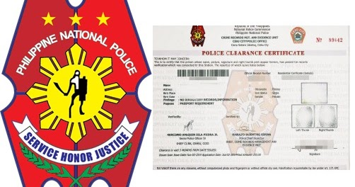 POLICE CLEARANCE CERTIFICATE APPLICATION IN THE ...