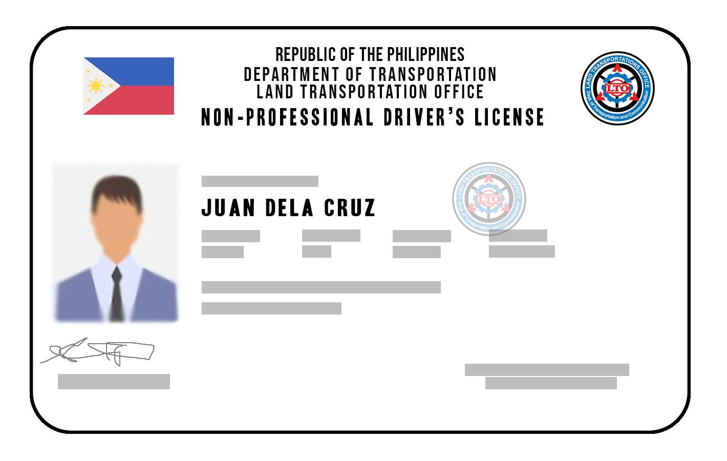 driver's license sample id