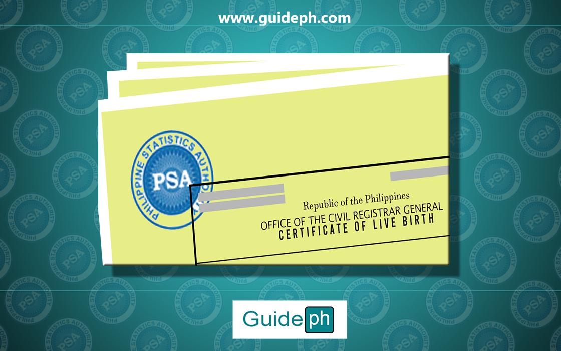 psa birth certificate