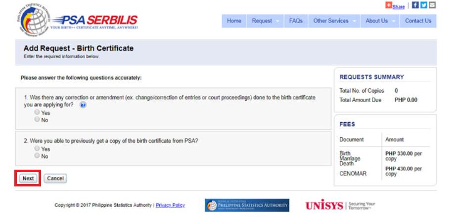 psa birth certificate psa website requested document
