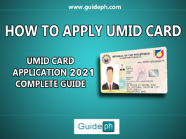 UMID Card Application 2021